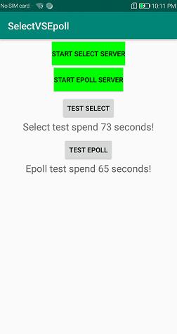 《(原创)使用Android NDK socket编程对比多路复用select和epoll的性能》